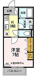 ノアール・エ・ブラン[3階]の間取り