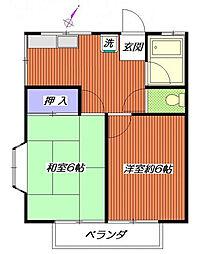 神奈川県横浜市南区永田北3丁目の賃貸アパートの間取り