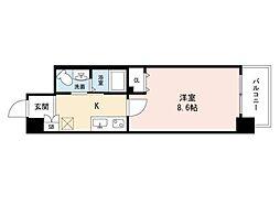 JINO新町(ジーノシンマチ) 2階1Kの間取り