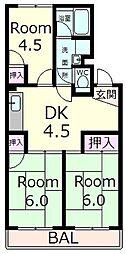 メゾン・ド・後三条[2階]の間取り