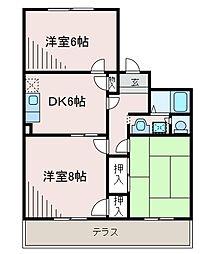 神奈川県相模原市南区上鶴間本町8丁目の賃貸マンションの間取り