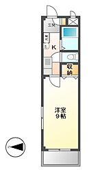 クオーレK[2階]の間取り