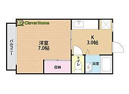 神奈川県相模原市南区豊町の賃貸アパートの間取り