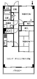 香川県高松市扇町1丁目の賃貸マンションの間取り