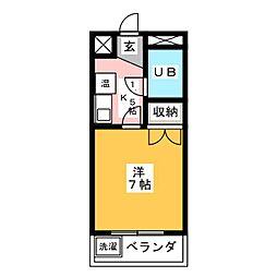 ぷち・うらら[1階]の間取り