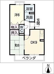 ロイヤルガーデン昭和A棟[1階]の間取り