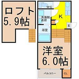 リブフラット藤江(リブフラットフジエ)[1階]の間取り