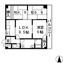 インペリアル飯島[309号室号室]の間取り
