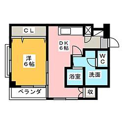 日和マンション[3階]の間取り