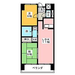 アークヒル[11階]の間取り