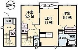 シャーメゾンKOBATA[2階]の間取り