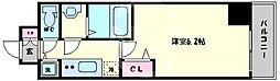 プレサンス心斎橋クオーレ 14階1Kの間取り
