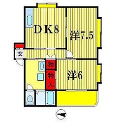 フォワーローゼス松戸[3階]の間取り