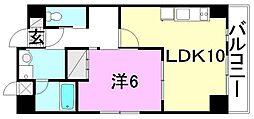 愛媛県松山市三番町3丁目の賃貸マンションの間取り