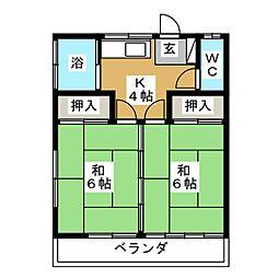 やまき荘[2階]の間取り