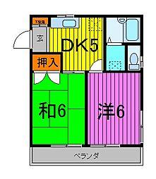 エクシード[2階]の間取り