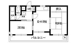 ネオハイツ南昭和[201号室]の間取り