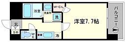 クラウンハイム北心斎橋フラワーコート[12階]の間取り