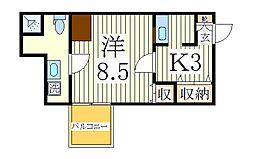 千葉県柏市光ケ丘2丁目の賃貸アパートの間取り