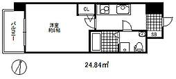 セレニテ三宮プリエ 9階1Kの間取り