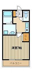 トーワパレスA[2階]の間取り