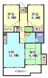 ジュピター三門[3階]の間取り