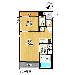 福岡県福岡市南区三宅2丁目の賃貸アパートの間取り