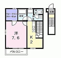 東京都西東京市柳沢3丁目の賃貸アパートの間取り