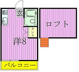 千葉県松戸市五香南3丁目の賃貸アパートの間取り