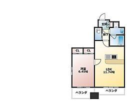 プレジオ西宮[5階]の間取り