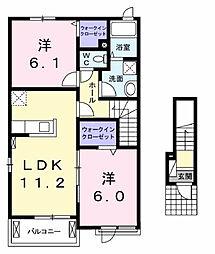 グローヴIII[2階]の間取り