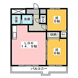 シティオークII[3階]の間取り