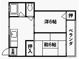 紫竹ハイム[1階]の間取り