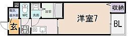 シェモワ八尾[101号室]の間取り