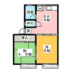 コーポ安藤[1階]の間取り