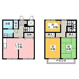 [テラスハウス] 静岡県浜松市中区高丘北2丁目 の賃貸【/】の間取り