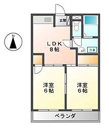 住苑アーク若宮[2階]の間取り