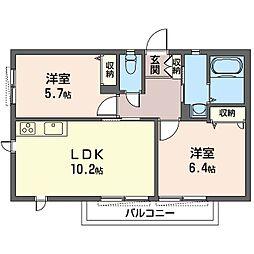 レフィシア[2階]の間取り