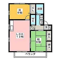セジュール香B[2階]の間取り
