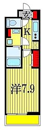 JR総武線 下総中山駅 徒歩8分の賃貸アパート 1階1Kの間取り