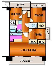 香川県高松市国分寺町新居の賃貸マンションの間取り