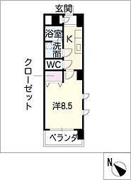 ミ カーサ・キタ[2階]の間取り