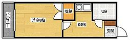 広島県広島市安佐南区祇園5丁目の賃貸アパートの間取り