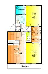 大阪府松原市高見の里4丁目の賃貸アパートの間取り