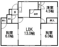 パークマンション1[101号室]の間取り