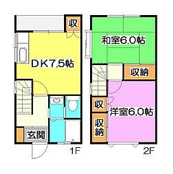 [テラスハウス] 東京都東久留米市中央町1丁目 の賃貸【/】の間取り