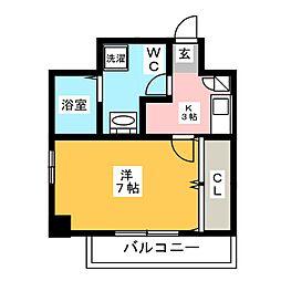 アイセレブ大博通[8階]の間取り