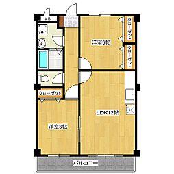 パールマンション[4階]の間取り