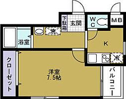 ロイヤルコート[3階]の間取り