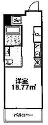 ウエストミンスター御所西(旧suminagi御所西) 3階1Kの間取り
